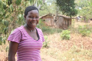 Josephine is sensitizing her community on the causes and effects of school dropouts among girls.